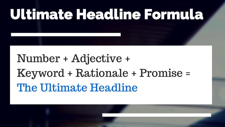 Recipe for Headline Success
